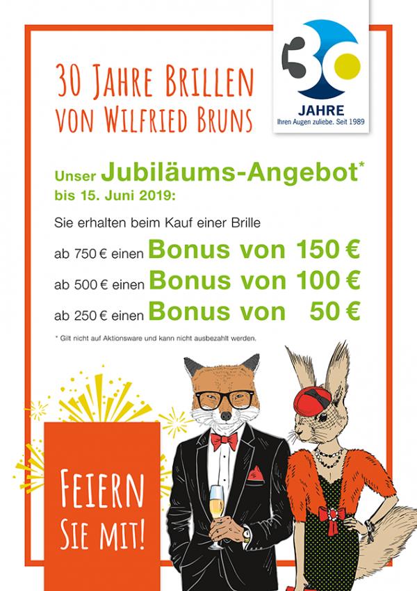 30 Jahre Brillen von Wilfried Bruns