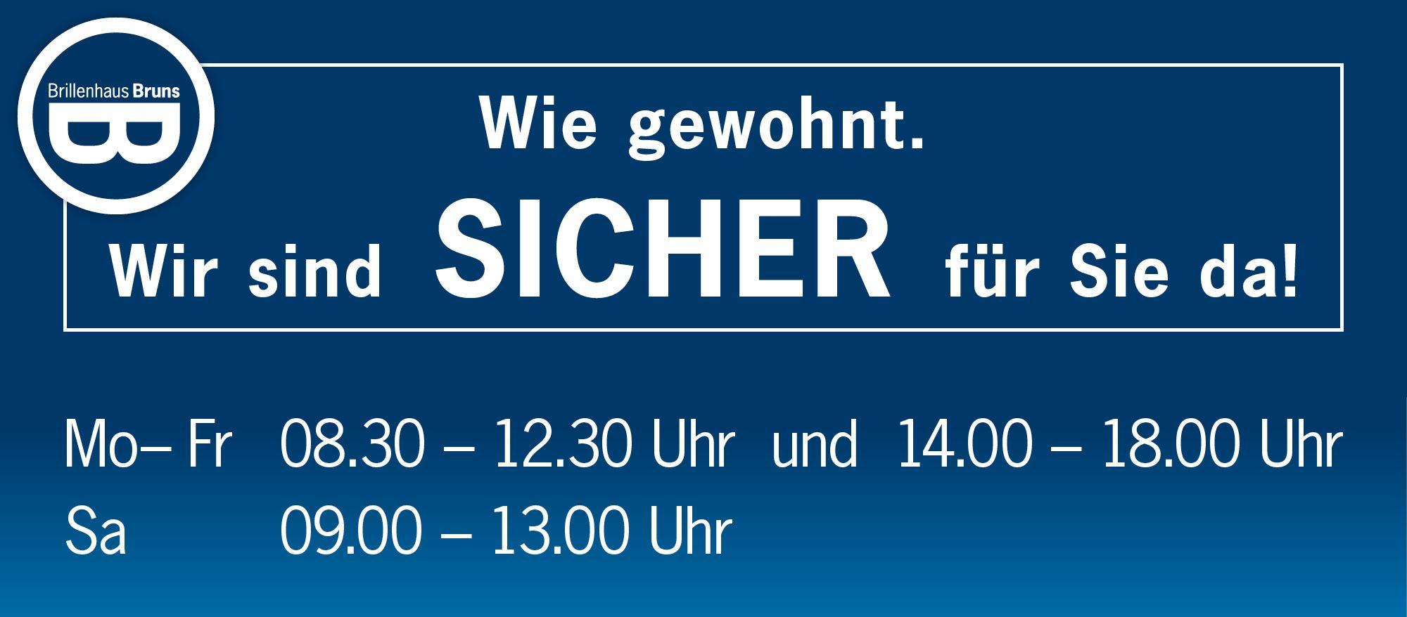BRUNS_Slider_2000x878_Öffnungszeiten-gewohnt-SICHER