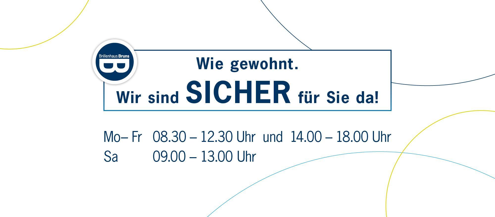 BRUNS_Slider_2000x878_Öffnungszeiten-gewohnt-SICHER_NEU
